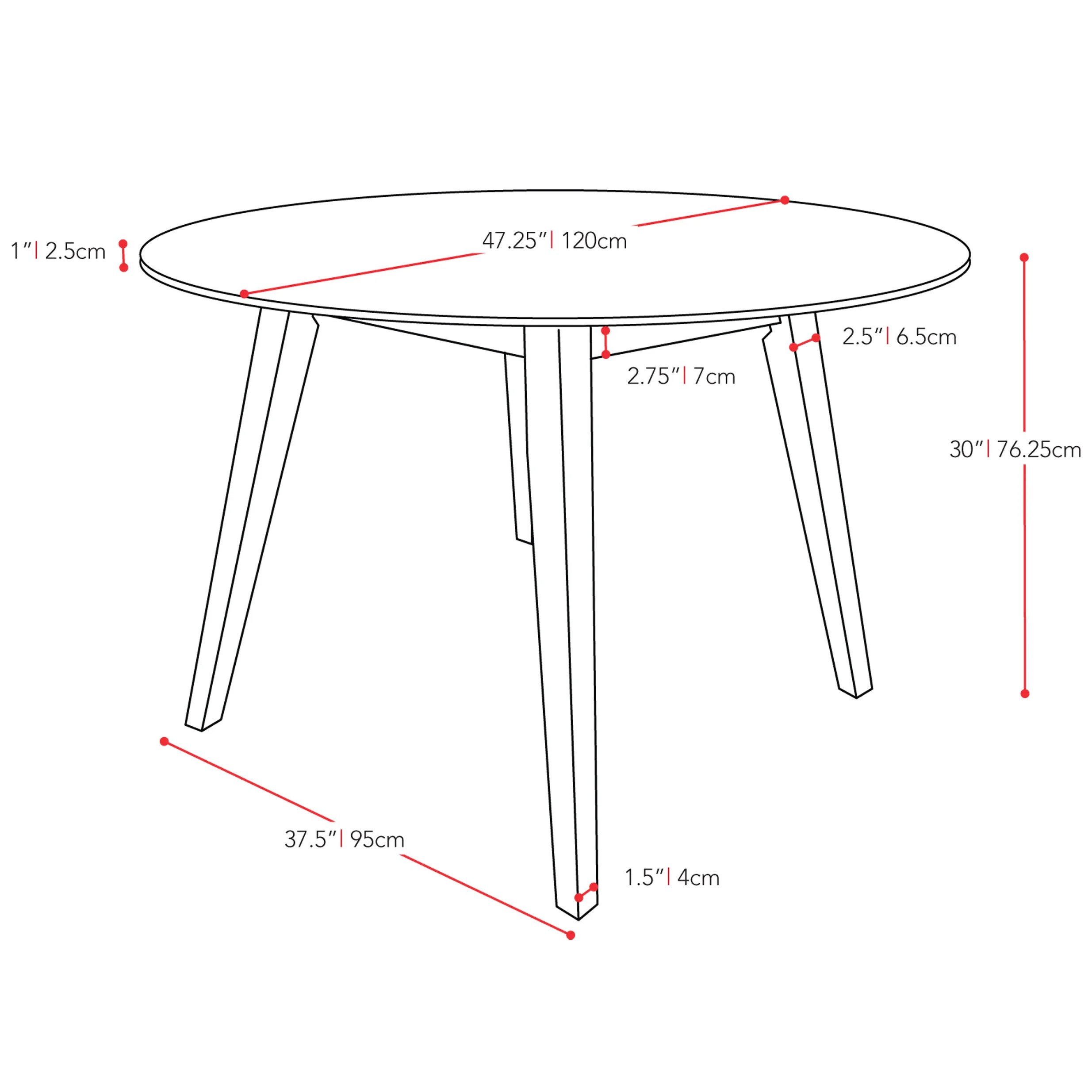Brayden Studio Gusman Round Stained Dining Table Amp Reviews