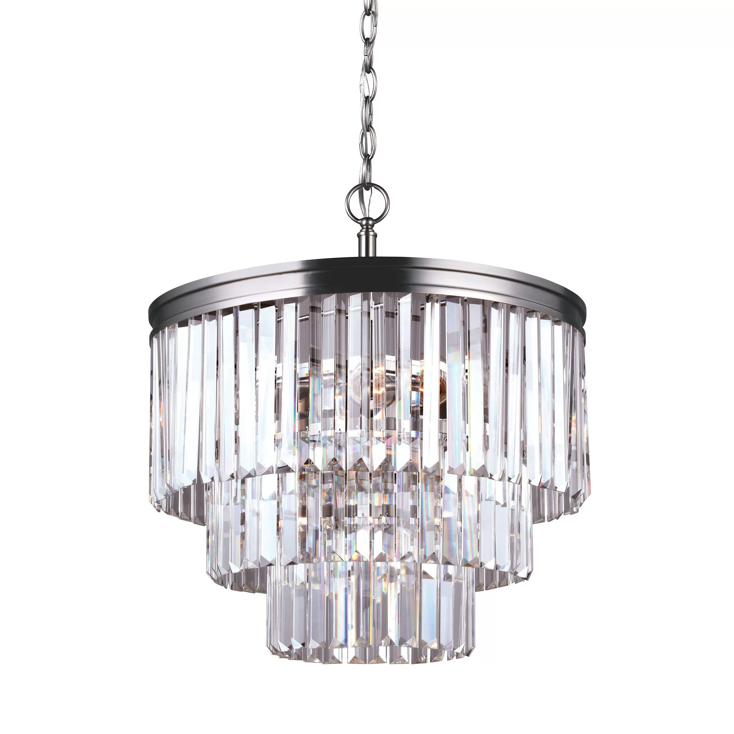 House Of Hampton Krenwik 4 Light Crystal Chandelier