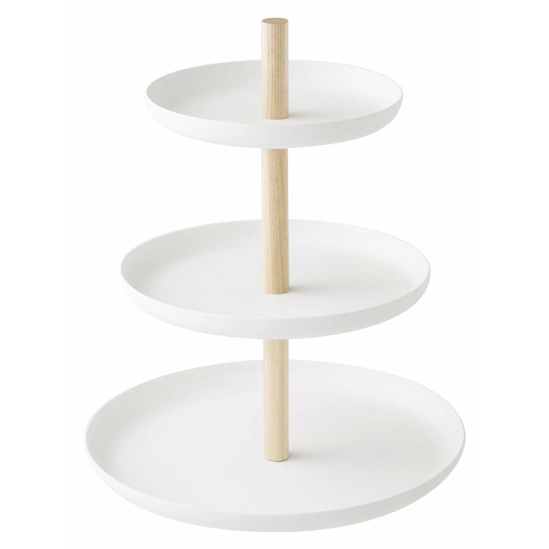 Yamazaki USA Tosca 3 Tiered Cake Stand Amp Reviews Wayfair