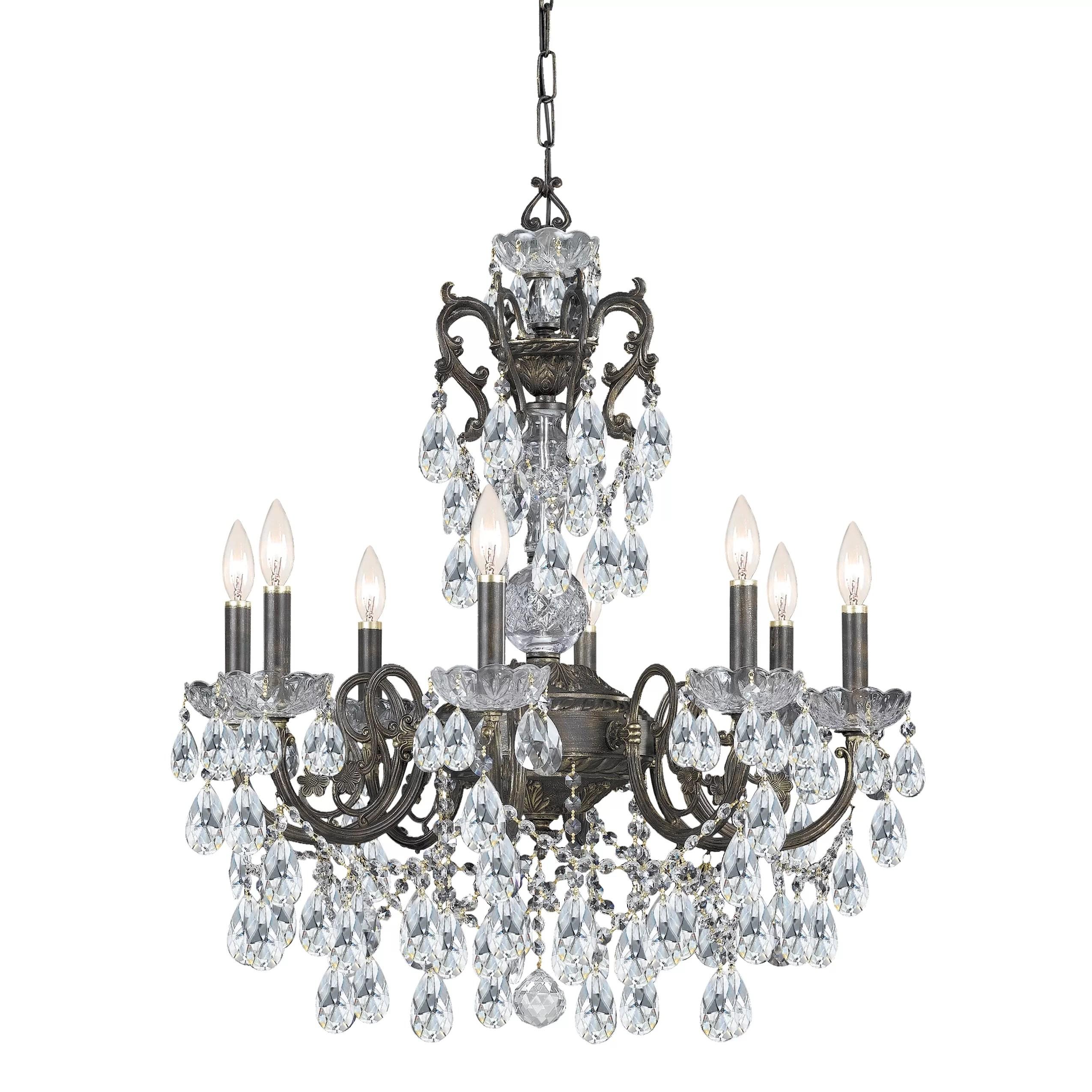 Astoria Grand Markenfield 8 Light Crystal Chandelier