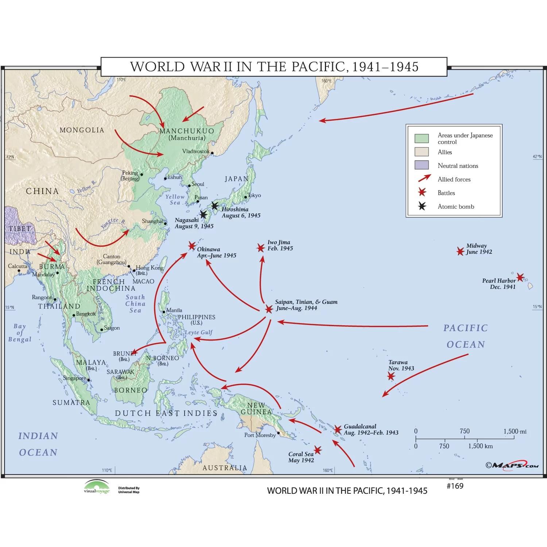 Universal Map World History Wall Maps