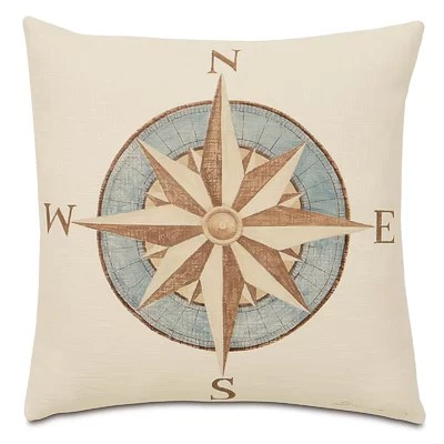 Nautical Compass Pillow Image