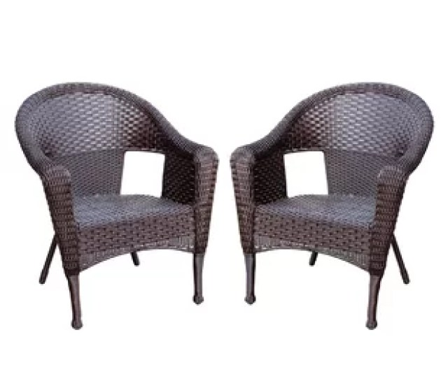 Kentwood Resin Wicker Patio Chair Without Cushion Set Of