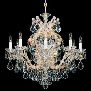 Maria Theresa 10 Light Candle Style Chandelier