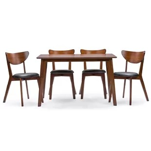 Modern   Contemporary Dining Room Sets   AllModern Serpens 5 Piece Dining Set