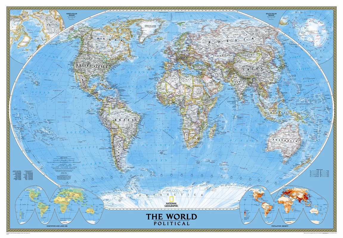 National Geographic Maps Mural World Map Amp Reviews