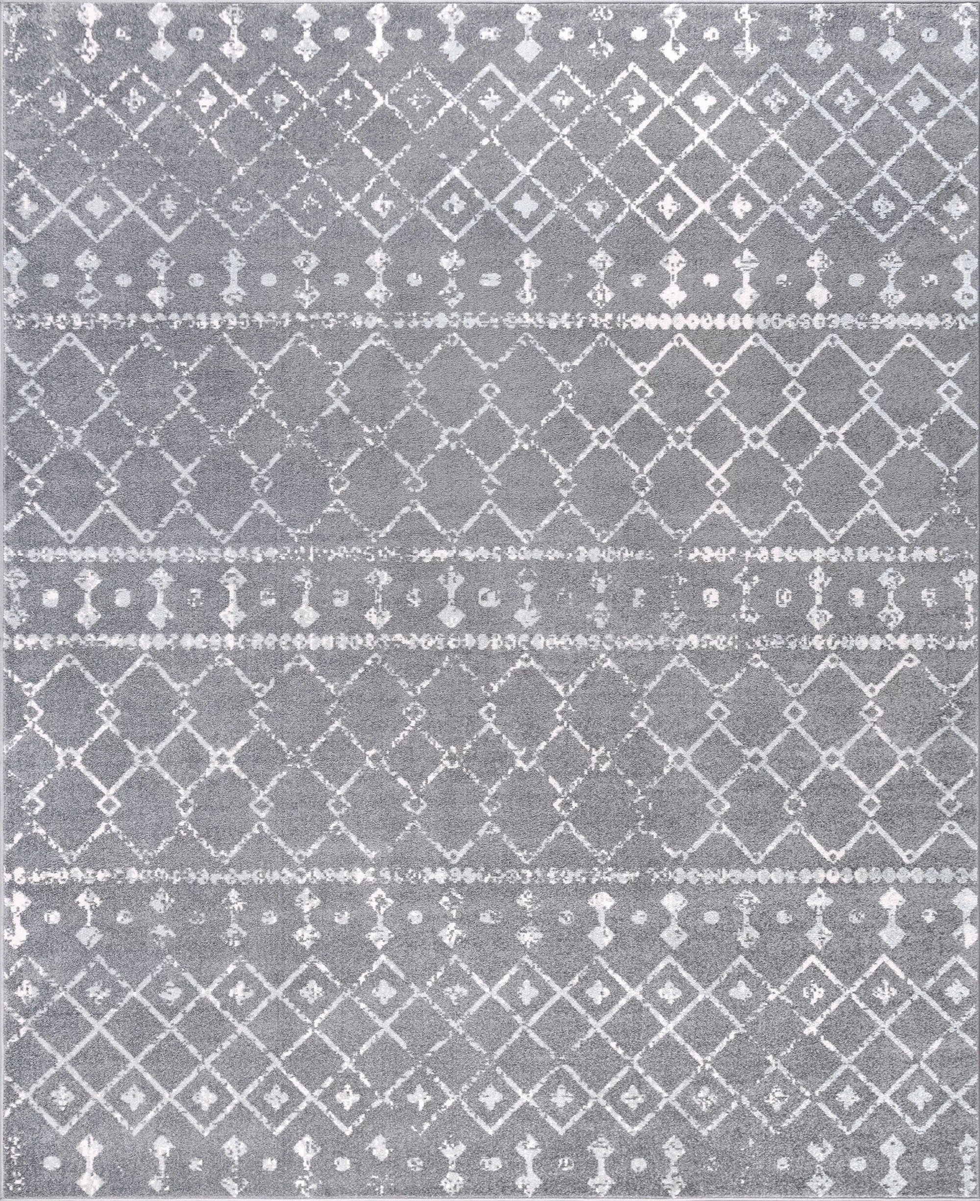 Union Rustic Adler Geometric Gray Area Rug