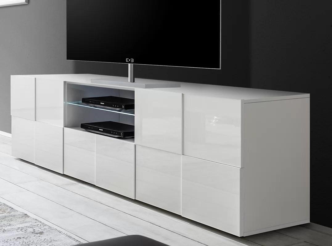 TV-Lowboard CHEQUERS in weiß glänzend