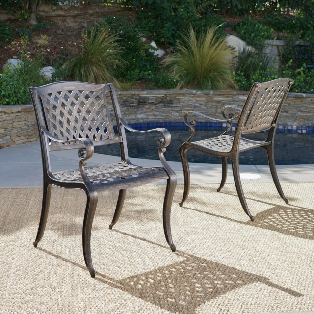 darby home co randalstown cast aluminum outdoor chair & reviews