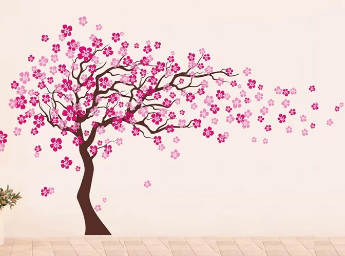 Pop Decors Cherry Blossom Tree Wall Decal & Reviews