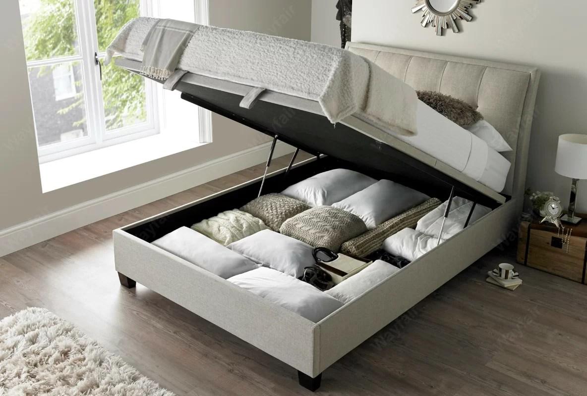 Marlow Home Co. Oglethorpe Upholstered Ottoman Bed Frame