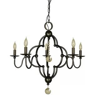 Quatrefoil 5 Light Candle Style Chandelier