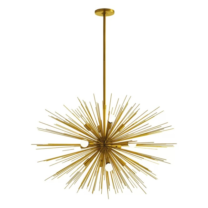Zanadoo Gold 12 Light Sputnik Chandelier