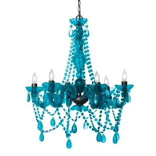 Blue Shade Chandeliers