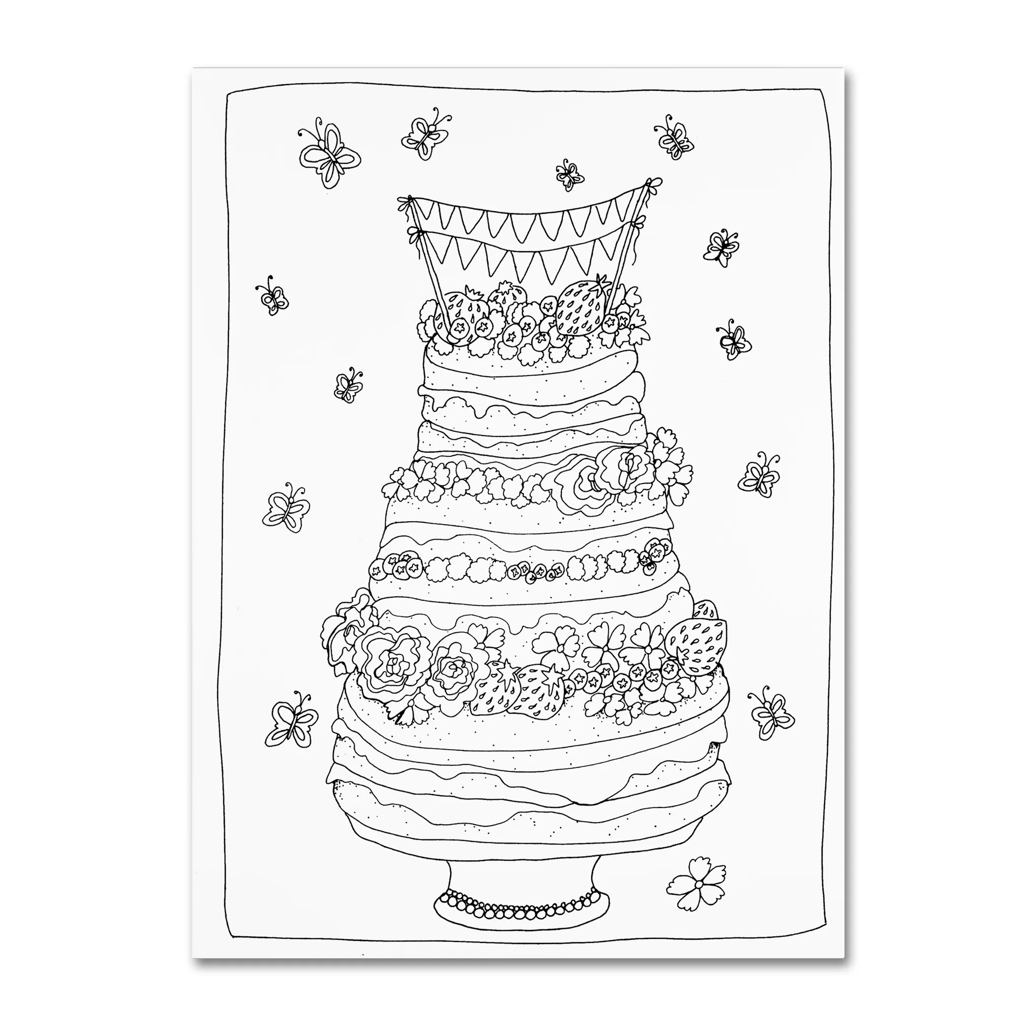 Trademark Art Fancy Cake Graphic Art Print On Wrapped