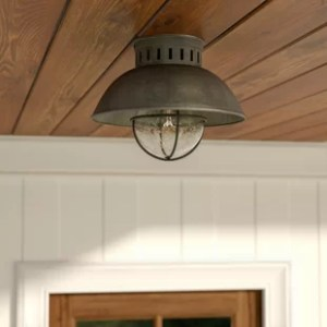 Outdoor Flush Mount Lights You ll Love   Wayfair Archibald 1 Light Outdoor Semi Flush Mount