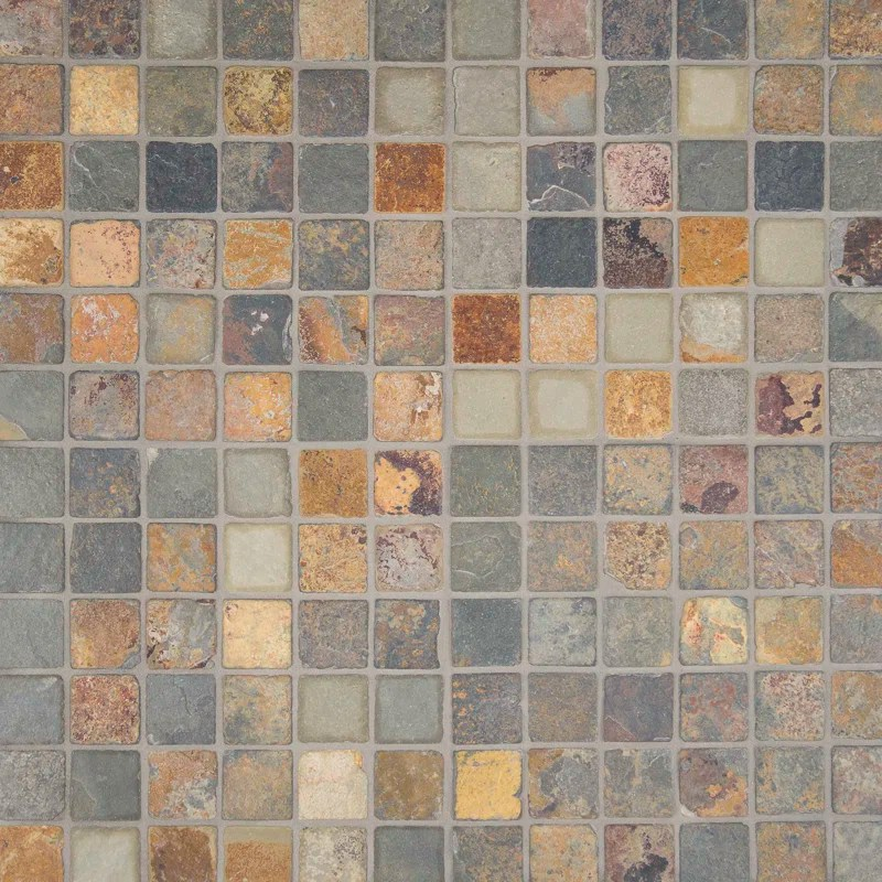 MSI California 2 X 2 Slate Mosaic Tile In Multi Amp Reviews Wayfair