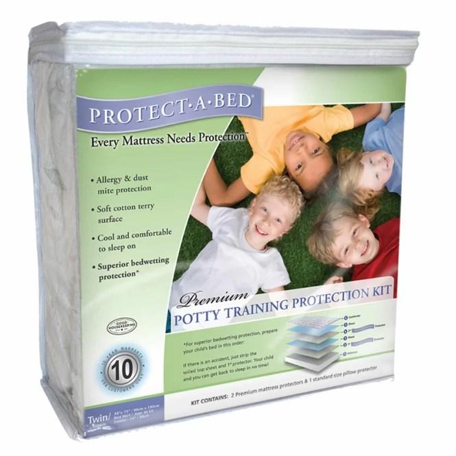 Premium Potty Training Hypoallergenic Waterproof Mattress Protector Kit