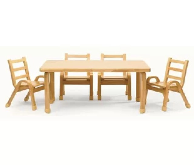 Naturalwood 12 Rectangle Toddler Table And Chair Set