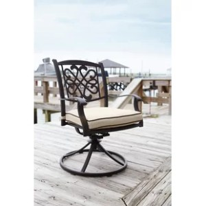 Swivel Patio Dining Chairs You ll Love   Wayfair Hanson Swivel Rocker Patio Dining Chair with Cushion  Set of 2