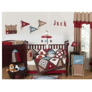 all star sports 9 piece crib bedding set
