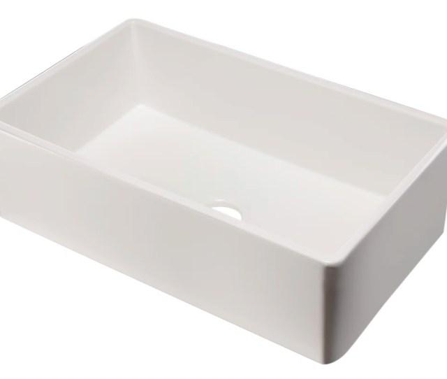 Single Bowl Fireclay Farmhouse Kitchen Sink