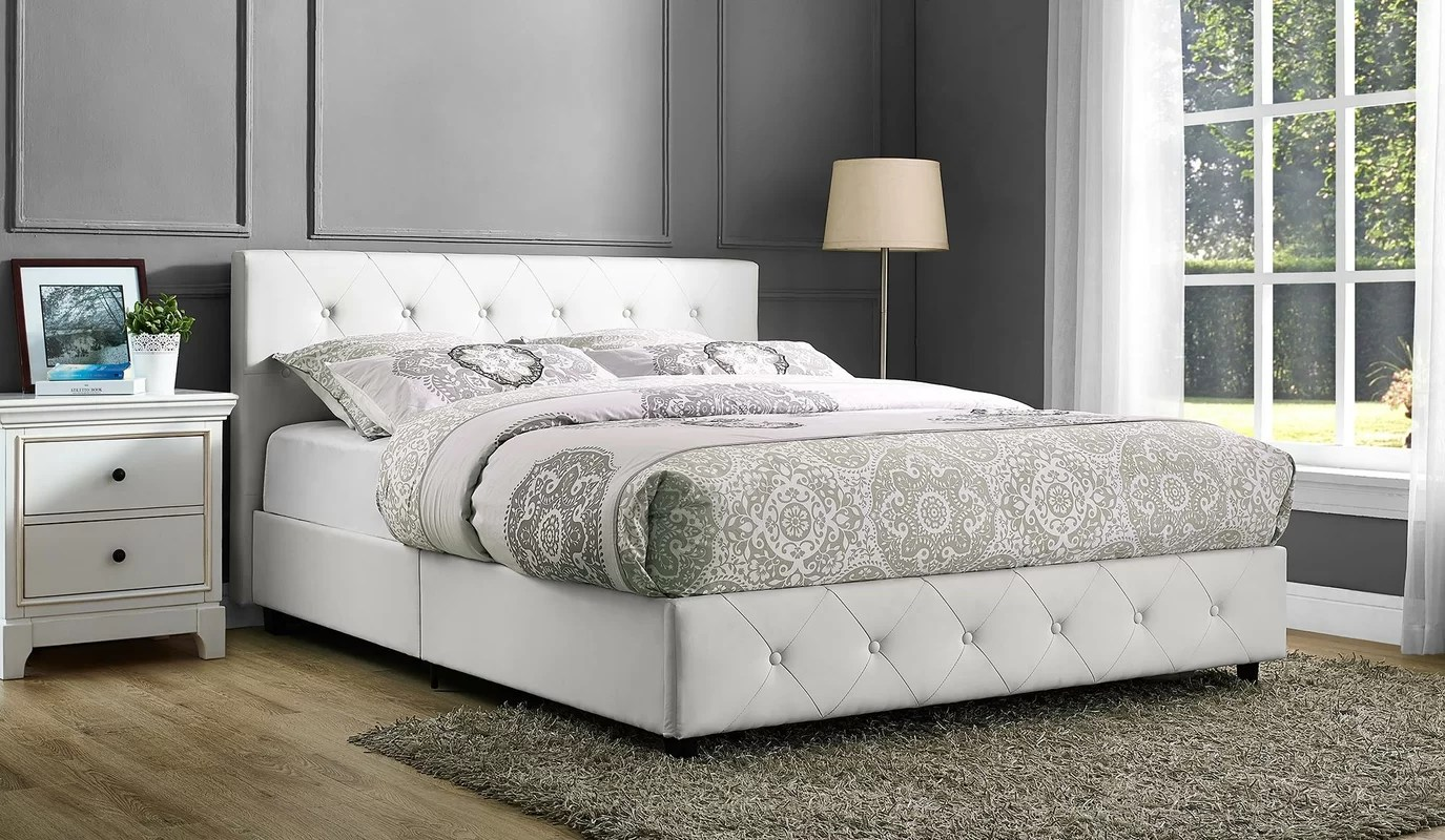 Andover Mills Salina Upholstered Platform Bed & Reviews