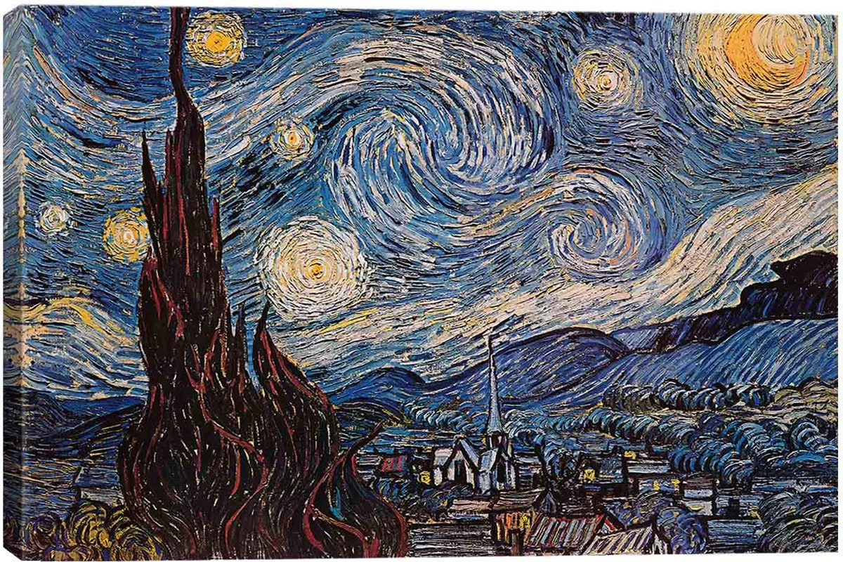East Urban Home The Starry Night By Vincent Van Gogh Graphic Art Print Amp Reviews