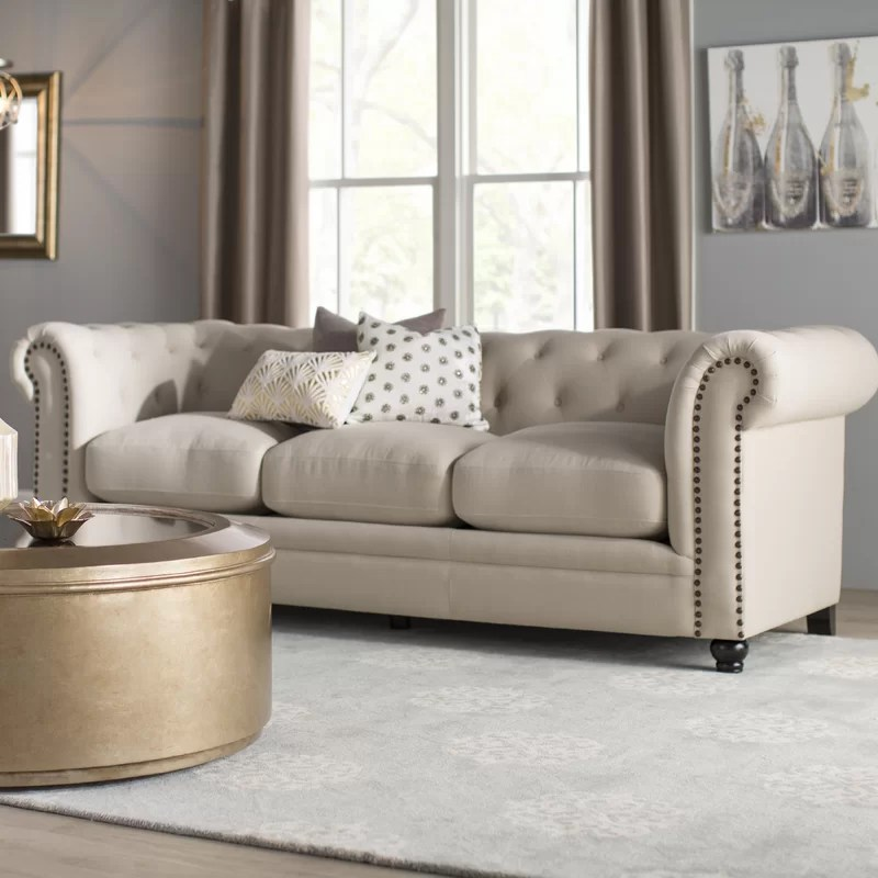 Dalila Upholstered Chesterfield Sofa   Reviews   Birch Lane Dalila Upholstered Chesterfield Sofa