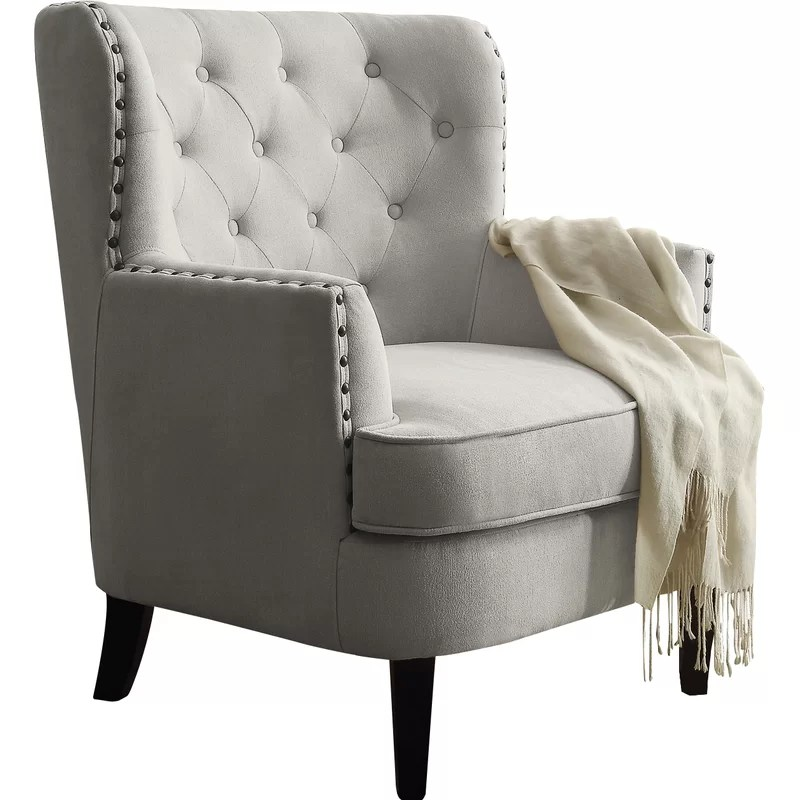 Gray And Cream Accent Chairs
