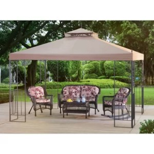 Outdoor Shades You ll Love   Wayfair Parlay 10 Ft  W x 12 Ft  D Steel Patio Gazebo