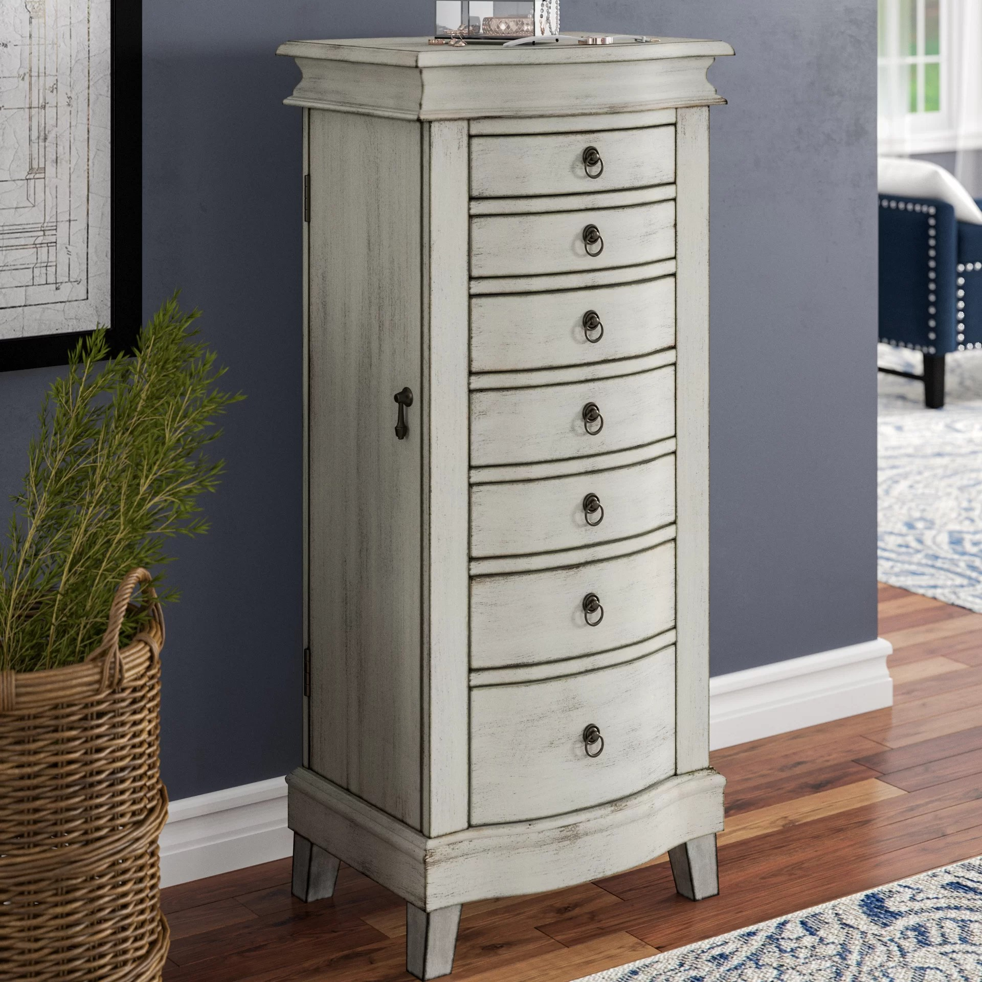 darby home co brookside free standing jewelry armoire reviews wayfair