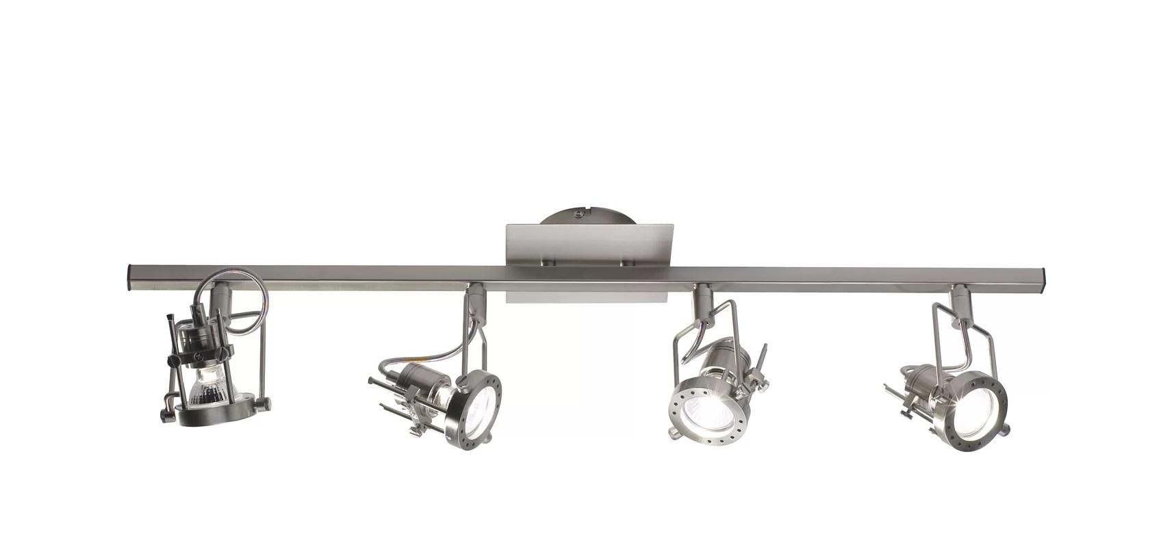Dar Lighting Bauhaus 4 Light Track Kit Amp Reviews