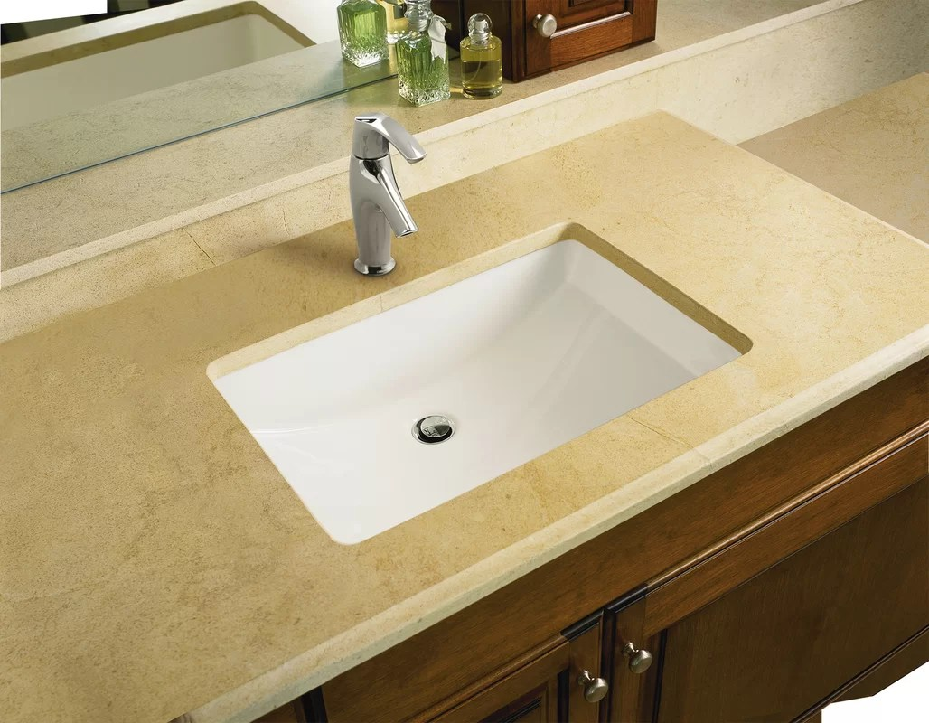 Kohler Ladena Ceramic Rectangular Undermount Bathroom Sink