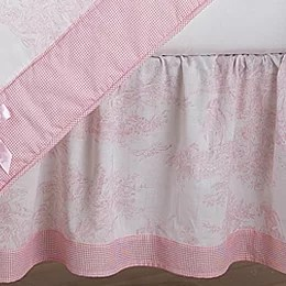 Pink Bed Skirts You ll Love   Wayfair French Toile Queen 14  Bed Skirt