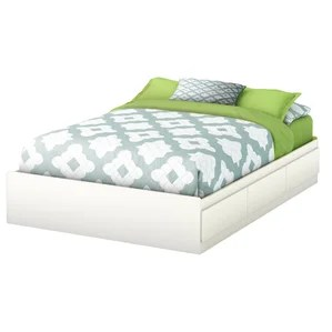 Step One Full Double Storage Platform Bed
