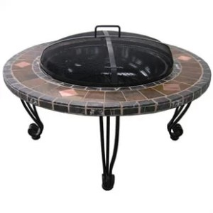Wrought Iron Patio Table Sets   Wayfair Wrought Iron Wood Burning Fire Pit Table