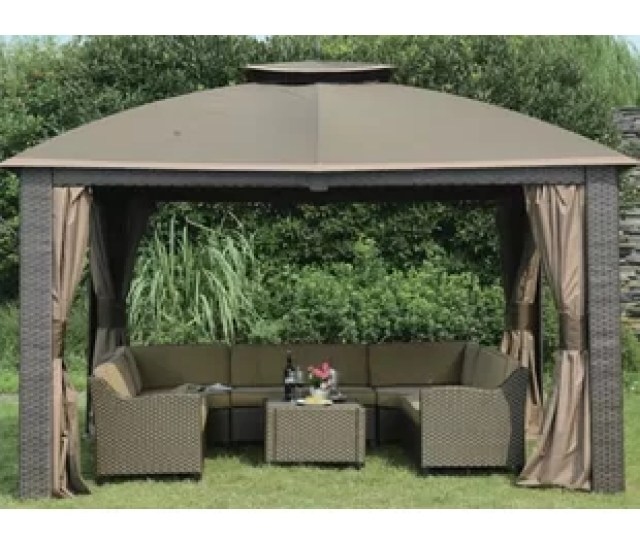 Replacement  Piece Curtain For  W X  D Riviera Resin Gazebo