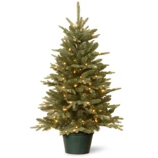 Evergreen 3 Green Artificial Christmas Tree With 100 Clear Lights