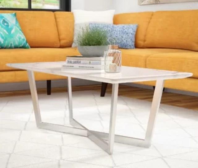 Rosenbalm Faux Marble Coffee Table