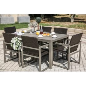 Six Person Patio Dining Sets You ll Love   Wayfair 7 Piece Dining Set