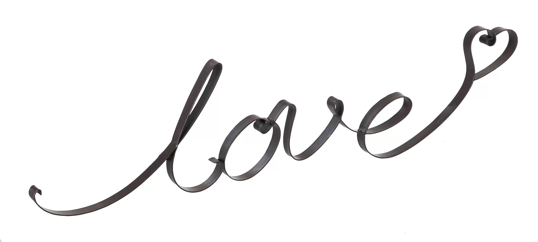 Latitude Run Love Cursive Wall Decor Amp Reviews