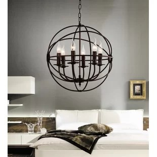 Bird Cage 6 Light Candle Style Chandelier