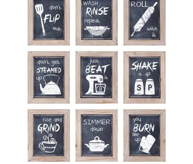 Piece Kitchen Inspirations Wall Decor