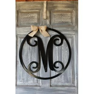 Address Plaques   House Numbers   Joss   Main Circle Initial Door Line Hanging Sign
