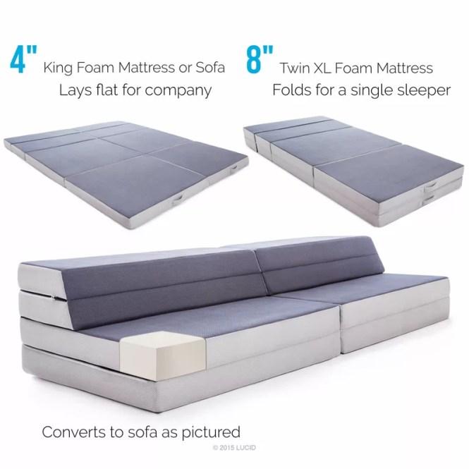 Folding 4 Firm Foam Mattress