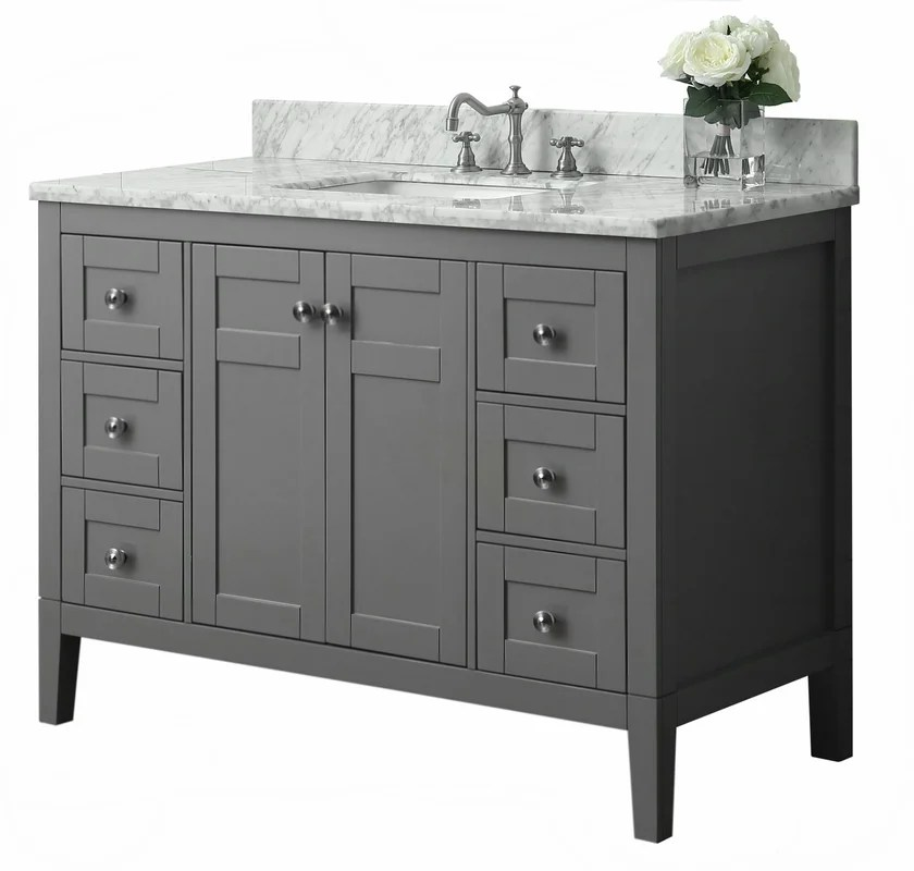 "ancerre designs maili 48"" single bath vanity set & reviews | wayfair"