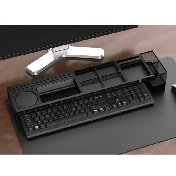 Mind Reader Axel Metal Desk Organizer With Charging
