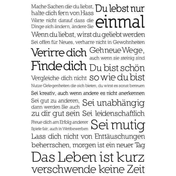 NEXT BY REINDERS Wandbild Du Lebst Nur Einmal