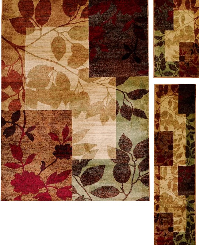 Andover Mills Raffin BeigeBrown Leaves Area Rug Amp Reviews